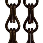Aluminiowe łańcuszki dekoracyjne - kolor ciemna czekolada
