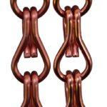 Aluminiowe łańcuszki dekoracyjne - kolor łososiowy