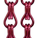 Aluminiowe łańcuszki dekoracyjne - kolor różowy