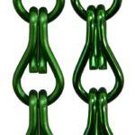 Aluminiowe łańcuszki dekoracyjne - kolor zielony