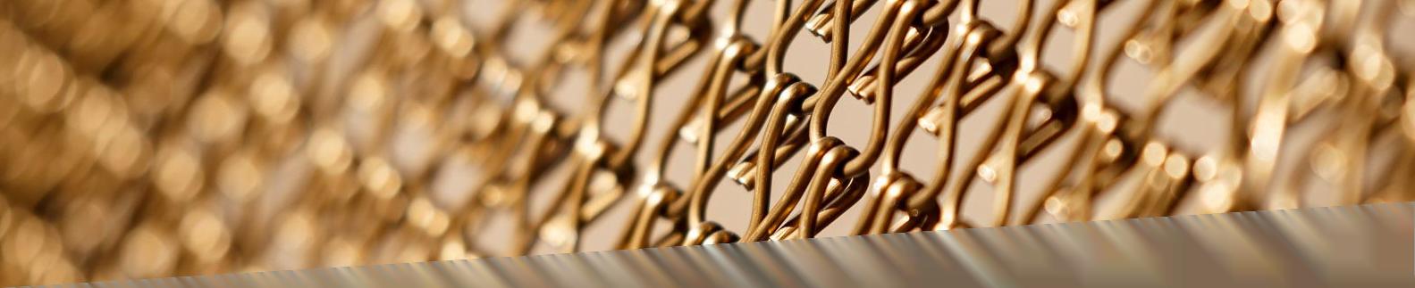 Aluminiowe łańcuszki dekoracyjne - brąz