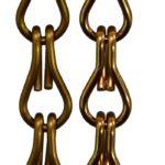 Aluminiowe łańcuszki dekoracyjne - kolor brązowy