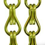 Aluminiowe łańcuszki dekoracyjne - kolor limonka