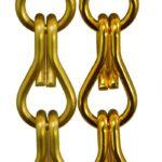 Aluminiowe łańcuszki dekoracyjne - kolor złoty