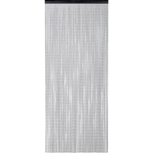 Zasłona drzwiowa z łańcuszków dekoracyjnych czarna