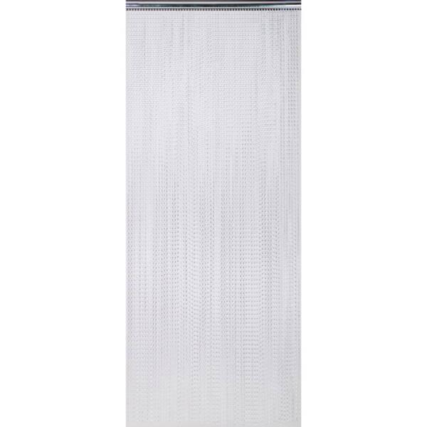 Zasłona drzwiowa z łańcuszków dekoracyjnych srebrna