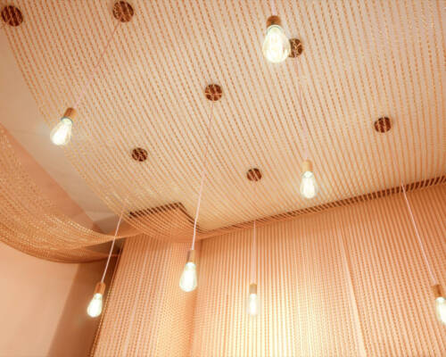 Kotary sufitowe z łańcuszków dekoracyjnych